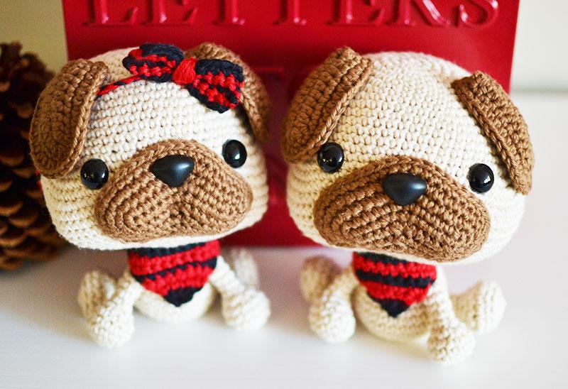 Milo the pug crochet pattern in english | 548x800