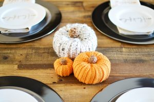 Faux Knit Pumpkins