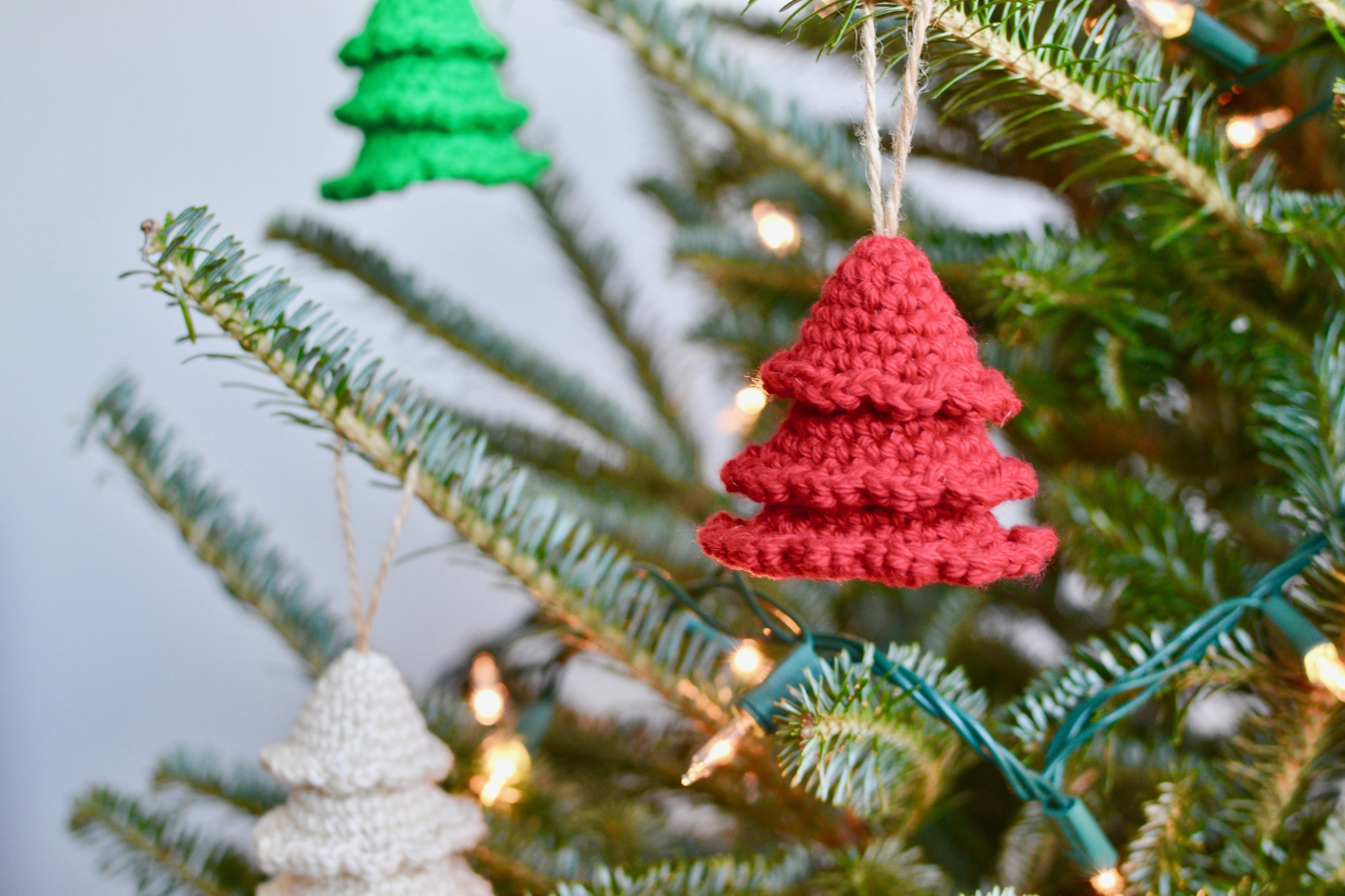Rustic Tree Ornaments Crochet Pattern By Yarn Society