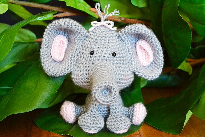 Circus Elephant Lovie | Crochet elephant, Crochet, Elephant ears | 533x800