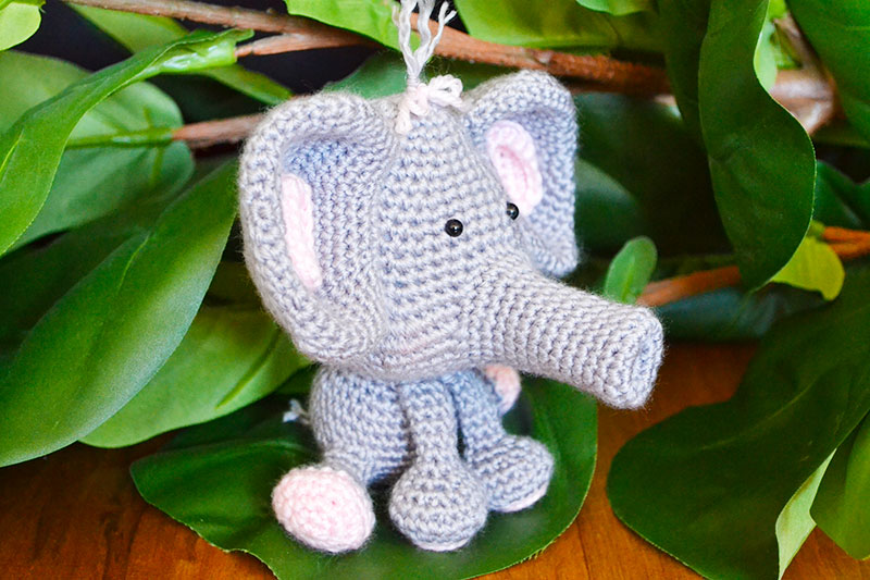 Ellie The Elephant Crochet Pattern by Yarn Society